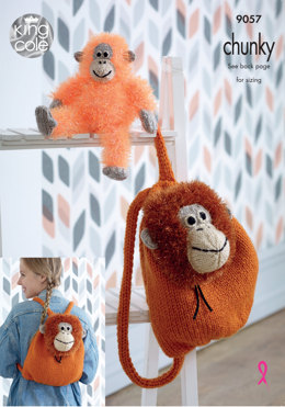 Backpack & Toy in King Cole Tinsel Chunky & Big Value Chunky - 9057 - Leaflet