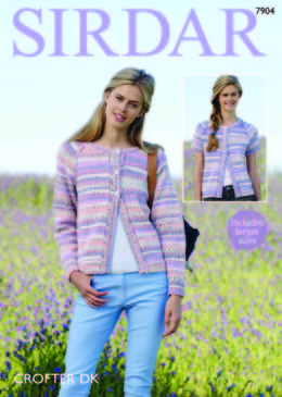Long and Short Sleeved Cardigans in Sirdar Crofter DK - 7904  - Downloadable PDF