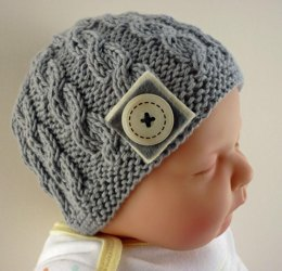 Harper - Cabled Baby Hat