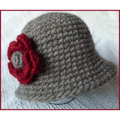 Crochet Cloche Hat Crochet pattern by Marilyn Lambert