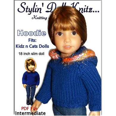 Hoodie Sweater fits Kidz and Cats Dolls. (18 inch slim doll)