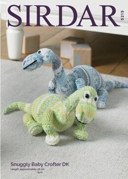 Dinosaur in Sirdar Snuggly Baby Crofter DK - 5215 - Downloadable PDF