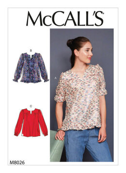 McCall's Misses' Tops M8026 - Sewing Pattern