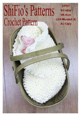 Crochet Pattern baby cocoon UK & USA Terms #127