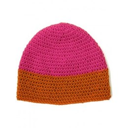 Dipped Striped Crochet Hat in Patons Classic Wool DK Superwash