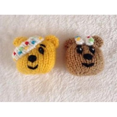 Children In Need Pudsey Badges Brooches Knitting Pattern By Andrew