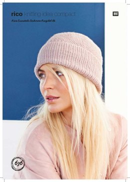 Hat in Rico Essentials Cashmere Recycled DK - 636 - Downloadable PDF