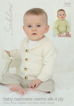 Ribby Wrap Sweater and Ribby Wrap Jacket in Sublime Baby Cashmere Merino Silk DK - 6032