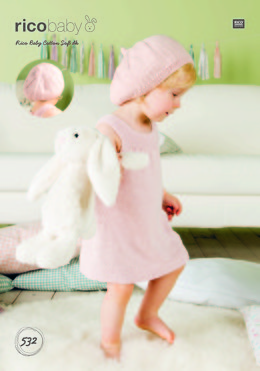 Dress and Hat in Rico Baby Cotton Soft DK - 532