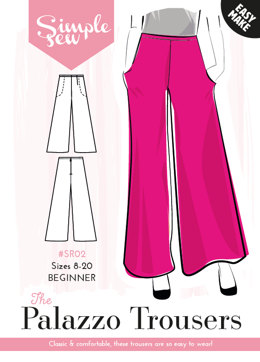 Simple Sew Patterns The Palazzo Pants SR02 - Sewing Pattern