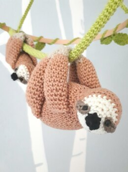 Sloth baby mobile