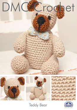 Teddy Bear in DMC Petra Crochet Cotton Perle No. 3