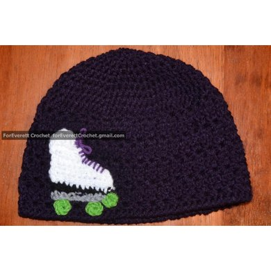 Crocheted Skate Applique: variations for roller or ice skate