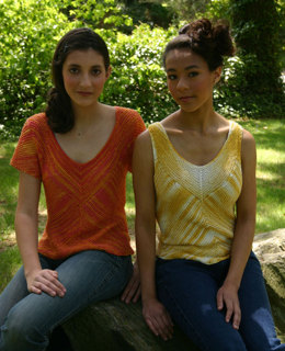 Diagonal Triangle Top in Artyarns Regal Silk - P90