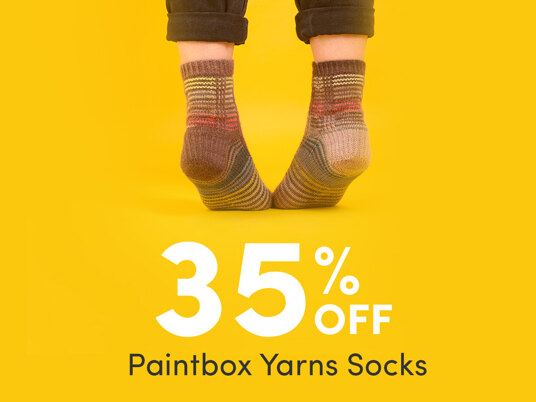 35 percent off Paintbox Yarns Socks. Today only!