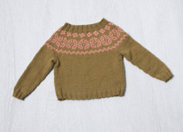 Colorwork Yoke Baby Pullover in Classic Elite Yarns  Liberty Wool Solids