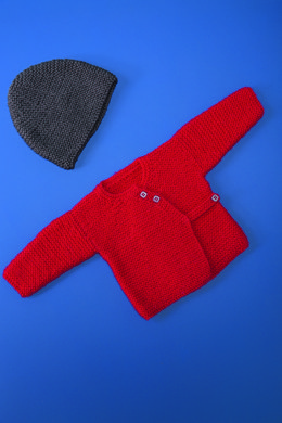 Babies Crossover Cardigan and Hat in Bergere de France Ideal - 72680-10 - Downloadable PDF