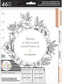 Me & My Big Ideas Happy Planner Medium Extension Pack - Home