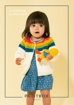 Rainbow Cardigan in Paintbox Yarns Simply Aran - Aran-Kid-002