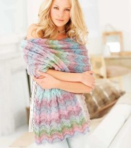 Wraps and Capelet in Rico Creative Reflection Print - 140