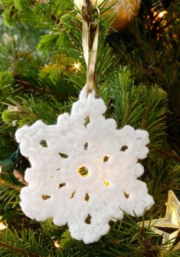 Snowflake Ornament in Red Heart Super Saver Economy Solids - LW2693