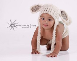 Lamb / Puppy Dog Baby Hat & Diaper Cover