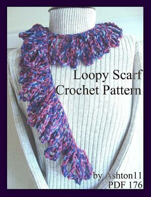 d703b80fd Loopy Scarf | Crochet Pattern by Ashton11 Crochet pattern by ...