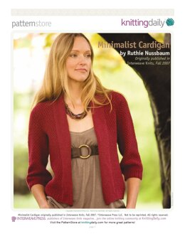 Minimalist Cardigan in Lily Chin Signature Collection Park Avenue - Downloadable PDF