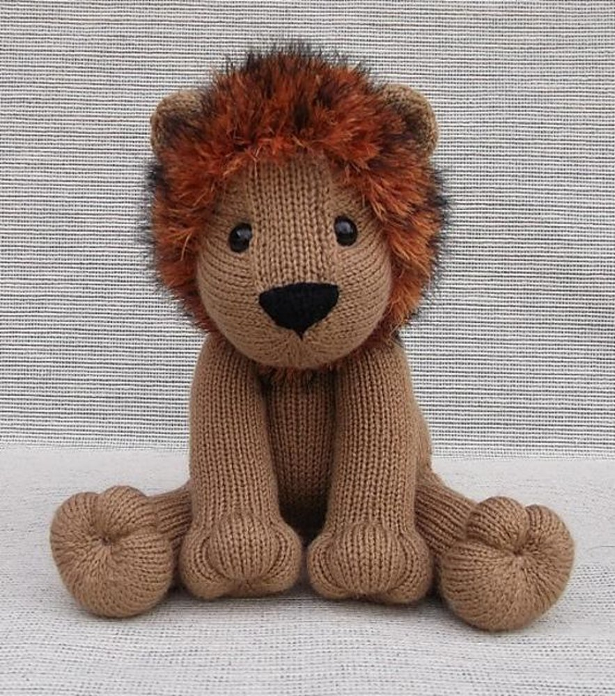 Lovable Lion Knitting pattern by Rainebo