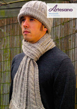 Warmth Scarf and Hat in Artesano Aran