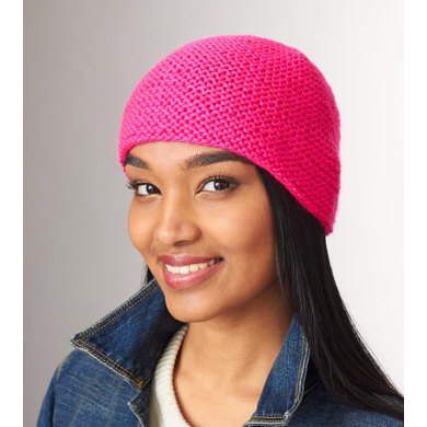 Simply Garter Stitch Hat in Caron Simply Soft - Downloadable PDF