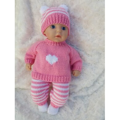Baby doll heart outfit