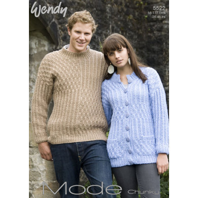 Jumper and Cardigan in Wendy Mode Chunky - 5522