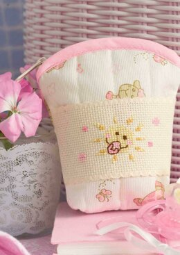 Friends Are Forever  - Cute Pink Bee Dummy Pouch in Anchor - Downloadable PDF