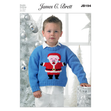 Boys' Sweater in James C. Brett Top Value DK - JB194