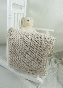 Diagonal Basketweave Baby Blanket in Cascade Yarns North Shore - DK584 - Downloadable PDF