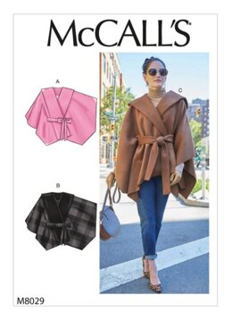 McCall's Misses' Capes & Belt M8029 - Sewing Pattern