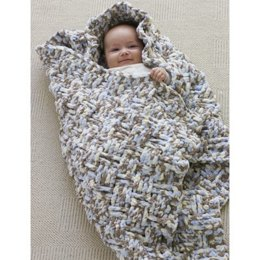 Dream Weaver Blanket in Bernat Baby Blanket - Downloadable PDF