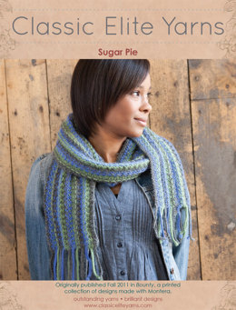 Sugar Pie Scarf in Classic Elite Yarns Montera - Downloadable PDF