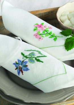 Anchor Aromatic Plants - Thyme and Borage Napkins - 0060044-00901_09 -  Downloadable PDF