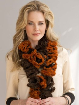 Ruffled 2-Ball Scarf in Filatura Di Crosa Polar