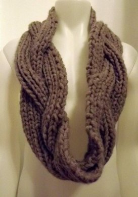 Braided Ushya Infinity Scarf 113 Knitting Pattern By Michelle Porter