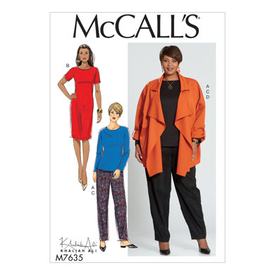 McCall's Misses'/Women's Top, Dress, Pants, and Jacket M7635 - Sewing Pattern