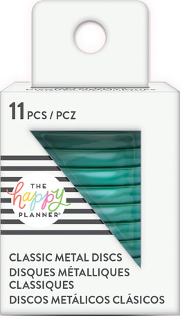 Me & My Big Ideas Happy Planner Medium Metal Expander Discs 11/Pkg - Teal