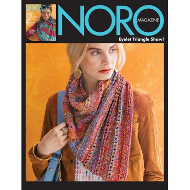 Eyelet Triangle Shawl in Noro Kotori - 15509 - Downloadable PDF