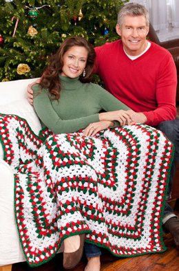 Holiday Throw in Red Heart Holiday - LW2613EN - Downloadable PDF