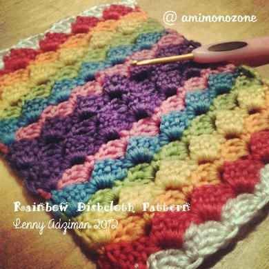 2in1 Pattern (Rainbow Dishcloth & Purse)