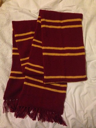 Harry Potter Scarf Gryffindor Knitting Project By Catherine F
