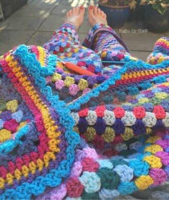 Carnival Granny Stripe Blanket Crochet Pattern By Eight By Six
