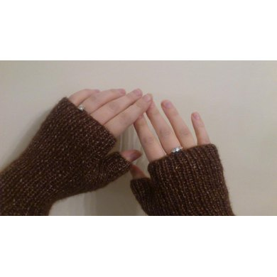 Rib Fingerless Gloves